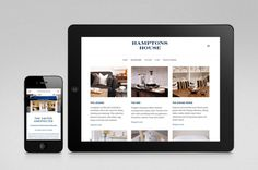 Logo and responsive website designed by Moffitt.Moffitt for Sydney furniture and homeware retailer Hamptons House