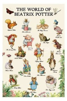 Beatrix Potter.  Kep the Collie and Tom Kitten, how I love you.