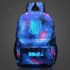Attack on Titan Backpack Japan Anime Printing School Bag for Teenagers Cartoon Travel Bag Nylon Mochila Galaxia CTT89
