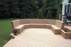 Composite Deck Bench,Build Deck Benches,outdoor deck materials