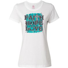 Be inspired for your cause with our line of Cervical Cancer Faith Hope Love slogan T-Shirt  #CervicalCancerAwareness