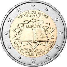Monedas 2 € conmemorativas - Tratado de Roma 2007 - Francia 2 euros