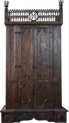 Bohol Neo-Gothic aparador, c. Western Furniture, Antique Furniture, Before I Sleep, Miles To Go, Bohol, How To Clean Furniture, Furnitures, 19th Century, Bedroom Ideas