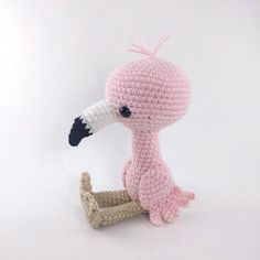 PATTERN: Crochet flamingo pattern amigurumi flamingo pattern