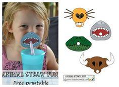 fiestas infantiles imprimible decoracion pajitas1 Decoración de pajitas para una fiesta de animales