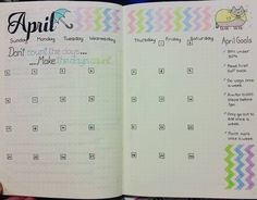 Monthly Spread Bullet Journal