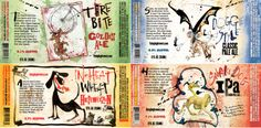 ralph steadman labels for flying dog brewery