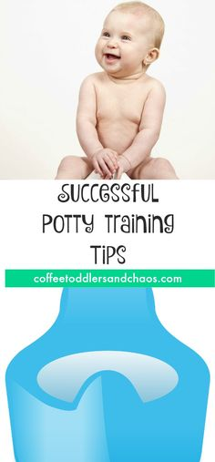 Tips and advice to help the potty training adventure with toddlers more successful.