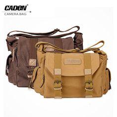 Caden F1 Professional DSLR Canvas Camera Bag Travel Photo Bag Single Shoulder Backpack for Sony Canon Nikon Olympus