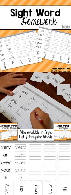 Do your students struggle to learn their sight words?  This resource has helped my students learn sight words and shown parents how to help at home.  Send home one page per week.  Students read it, trace it, write it and write it without looking.  Also includes flashcards for students to review the words. Includes options for Dolch Sight Words, Fry's Sight Words and Irregular Sight Words for teaching reading and teaching writing in elementary education.