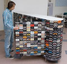 Green Idea The Cassette Tape Closet: A Great Way To Recycle Old Media | Apartment Therapy