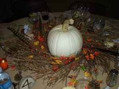 table decoration for fall wedding
