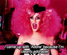 1k my gifs rupaul's drag race Drag Queen adore RPDR Adore Delano Danny Noriega meet the queens