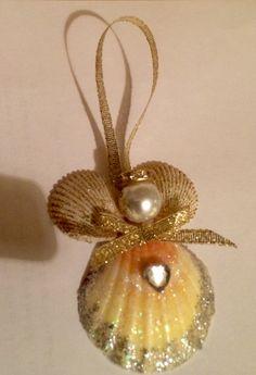 Seashell Painting, Seashell Art, Seashell Crafts, Decor Crafts, Diy And Crafts, Christmas 2019, Xmas, Christmas Decorations, Christmas Ornaments