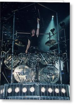 Gil Moore drummer for one of my favourite, bands, growing up - Triumph! Metal Fan, Heavy Metal Rock, Heavy Metal Music, Triumph Band, Drums Logo, Diy Drums, Alex Van Halen, Drums Beats, Classic Rock Bands