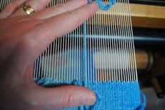 Comparing weft size to warp sett in tapestry weaving.