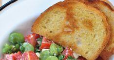 Prosta sałatka z bobem i fetą Cornbread, Baked Potato, Feta, French Toast, Bob, Potatoes, Baking, Breakfast, Ethnic Recipes