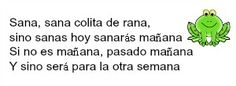 Sana Sana colita de Rana #rimas #niños #inicial #primaria #sana #colita #rana #rimasparaniños #lectura #pequeños