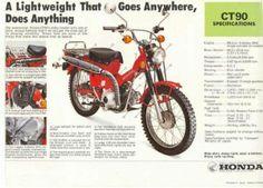 "Honda CT90 ""Trail 90″ Bike History"