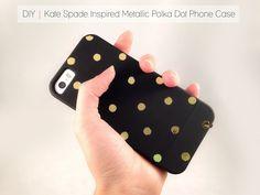 Cafe Craftea: DIY | Kate Spade Inspired Metallic Polka Dot Phone Case