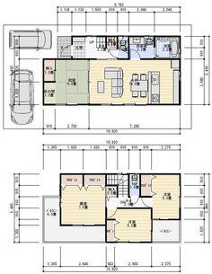 30坪 間取り 二階建て House Floor Plans, My House, Small Spaces, Flooring, How To Plan, Mansions, Architecture, Interior, Reyes