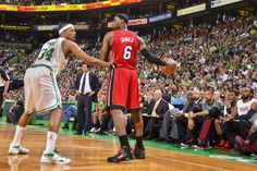 LeBron James Miami Heat, Paul Pierce, Boston Celtics