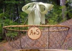 program basket for barn wedding