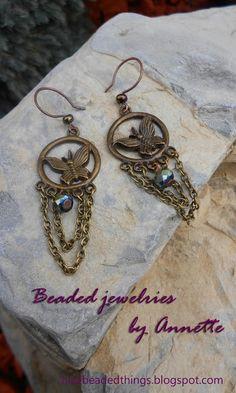 Гарненькі бісерні штучки | Beaded jewelries by Annette: Метелики на сережках