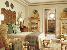 kopfteil im schlafzimmer trennwand orientalischer stil
