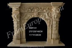 FIGURATIVE CARVED ESTATE EUROPEAN DESIGN MARBLE FIREPLACE MANTEL - MBR141 Marble Fireplace Mantel, Marble Fireplaces, Fireplace Mantels, Hand Carved, Carving, Design, Ebay, Antiques, Garden