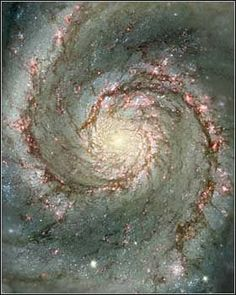 The Whirlpool Galaxy in Dust and Stars Image Credit: N. Scoville (Caltech), T. Rector (U. Alaska, NOAO) et al., Hubble Heritage Team, NASA Explanation: The Whirlpool Galaxy is a classic spiral. Hubble Space Telescope, Telescope Images, Nasa Space, Whirlpool Galaxy, Carl Sagan Cosmos, Spirals In Nature, Hubble Images, Andromeda Galaxy, Light Year