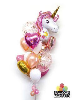 manualidad hazlo tu mismo hecho en casa DIY evento cumpleaños niña centro de mesa arco happy birthday unicornio