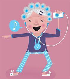 "●•‿✿⁀Life's ""Grand""‿✿⁀•●  ~~Beck Wheeler Listening To Music, Beats, Cute Animals, Gallery Wall, Paintings, Draw, Dance, Cartoon, Kids"