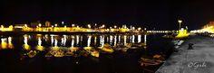El barrio pesquero de santader por la noche