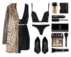 """Leopard babe"" by baludna ❤ liked on Polyvore featuring moda, Kenzo, Chantelle, Wonderbra, Natalie B, Yves Saint Laurent, MAC Cosmetics, MANGO, NARS Cosmetics y Givenchy"