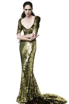 Zac Posen Resort 2012 Fashion Show - Coco Rocha
