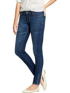 OMG!  Zipper ankle skinny jeans are coming back!!     WHAT???!!  :)  Womens The Rockstar Ankle-Zip Jeans