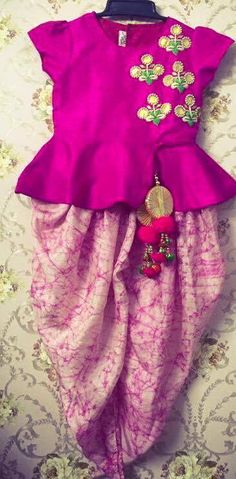 Make your little one look super adorable and cute wearing indian suit and dresses, Get it customized Beautifully designed at Nivetas Design Studio. Whatsapp How To Get A Custom Wedding Dress Made Kids Indian Wear, Kids Ethnic Wear, Indian Party Wear, Kids Dress Indian, Frock Design, Indian Dresses, Indian Outfits, Little Girl Dresses, Girls Dresses