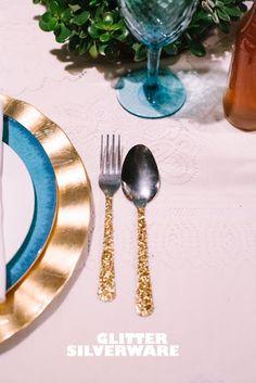 Glitter silverware