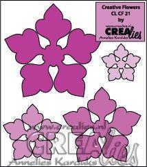 Crealies Creative Flowers no. 21 (stans - die - Stanzschablone - pochoir) http://www.crealies.nl