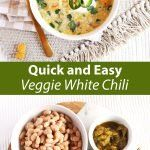 30 minute veggie white chilli from A Beautiful Mess Baby, it's cold outside! Bring on soup season! I have been loving this veggie white chili lately,. Chili Recipes, Soup Recipes, Vegetarian Recipes, Veggie Chili, Chili Chili, White Chilli, Chili Ingredients, Beautiful Mess, Soups And Stews