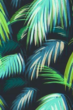 Matthew Williamson Palm Chiffon Tile Peacock from Print SS15