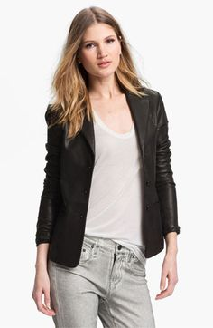 Vince Leather Blazer available at #Nordstrom