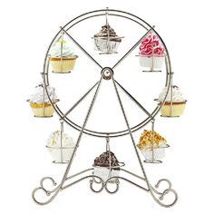 Practical Ferris Wheel 8 Cups Silver Stainless Steel Cupcake Stand Cake Holder Display Party Supplies-in Event & Party Supplies from Home & Garden on Aliexpress.com | Alibaba Group