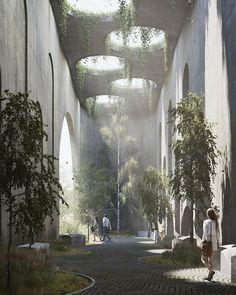 403 Likes, 1 Comments - Architecture Art Et Architecture, Concrete Architecture, Architecture Visualization, Concrete Building, Futuristic Architecture, Amazing Architecture, Open Space Architecture, Concrete Jungle, Design D'espace Public