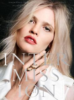 Lara Stone Intermission Magazine Spring-Summer 2017 Cover
