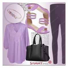 """""""Love Purple"""" by mini-kitty ❤ liked on Polyvore featuring Anja"""