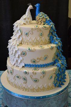 Mariage - Peacock gâteau de mariage