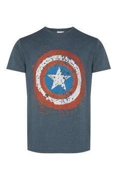 """Primark - Camiseta """"Capitán América"""" verde azulado"""