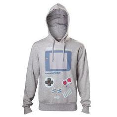 Nintendo Men's Gameboy Handheld Console Print Hoodie Large Grey for sale online Marvel Logo, Superman Logo, Game Boy, Nintendo, Mode Geek, Model Outfits, Unisex, Graphic Sweatshirt, T Shirt